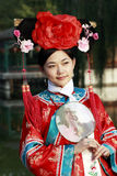 Classical beauty in China. Portrait of a beautiful girl in Chinese ancient dress Royalty Free Stock Image