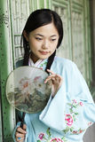 Classical beauty in China. Portrait of a beautiful girl in Chinese ancient clothes Stock Images