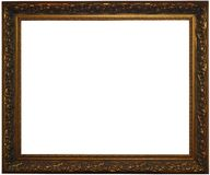 Classical bronze frame w/ clipping path Royalty Free Stock Photos
