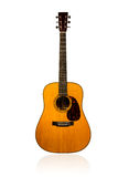 Classical brown acoustic guitar Royalty Free Stock Image
