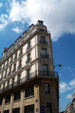 Classical building. A classical building similar to the famous copyrighted Flatiron building in NY. This one is located in Paris, France Royalty Free Stock Image