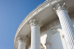 Classical building with blue sky Stock Photos