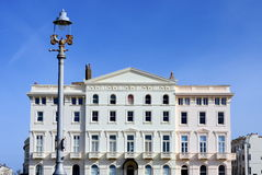 Classical building on Brighton quay, England, UK Royalty Free Stock Images