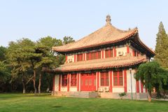 Classical building in the campus of Peking University Royalty Free Stock Photography