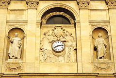 Classical building with clock Royalty Free Stock Images