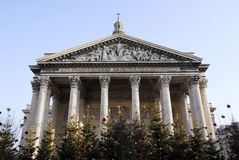 Classical building with flower Stock Photos