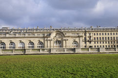 Classical building and meadow Royalty Free Stock Photography