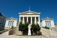 Classical building of the National Library, Athens, Greece Stock Images