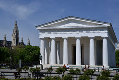 Classical building in Stadtpark, Vienna Stock Images