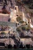 Classical buildings of houses on Santorini island Royalty Free Stock Photos