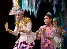 Classical Burmese dance Stock Photography