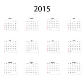 Classical calendar . Stock Photos