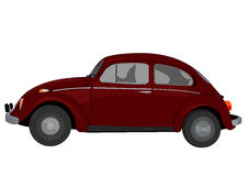 Classical car lateral. Illustration of classical car in lateral view royalty free illustration