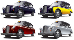 Classical London Taxi Stock Photo