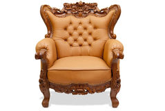 Classical carved wooden chair Royalty Free Stock Images