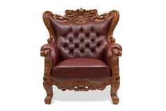 Classical carved wooden chair Royalty Free Stock Photos