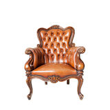 Classical carved wooden chair Stock Photo