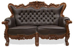 Classical carved wooden sofa Stock Photos