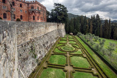 Classical castle Brolio in Italy Royalty Free Stock Images