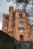 Classical castle Brolio in Italy Stock Image