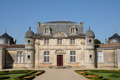 The classical castle of Malle in Gironde Stock Images