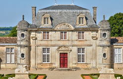 Classical castle of Malle in Gironde Royalty Free Stock Photos
