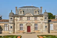 Classical castle of Malle in Gironde Royalty Free Stock Photo