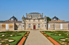 Classical castle of Malle in Gironde Stock Image