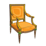 Classical chair on white Stock Photo
