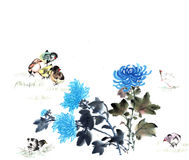 Classical China-- flower and bird Stock Image