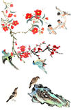 Classical China-- flower and bird Stock Photos