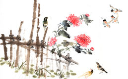 Classical China-- nature, bird Royalty Free Stock Photography