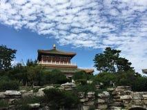 CHINESE YARD VIEW royalty free stock photo