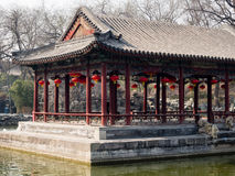 Classical Chinese garden with pavilion Stock Photo