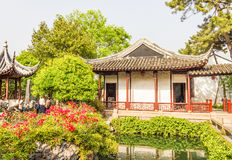 Classical Chinese garden in Shanghai Stock Photos
