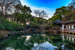 Chinese Garden in the Mirror royalty free stock photos