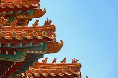 Classical Chinese Tile On The Roof Stock Image