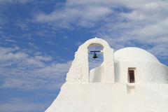 Classical church of Mykonos island Royalty Free Stock Image