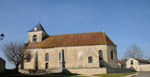 The classical church of Sagy in V al d Oise Stock Image
