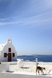 Classical church in Santorini island Royalty Free Stock Images