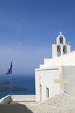 Classical church of Santorini island Royalty Free Stock Images
