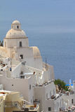 Classical church of Santorini island Stock Image
