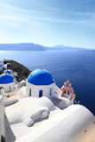Classical church of Santorini island Royalty Free Stock Photography