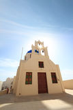 Classical church of Santorini island Stock Photography