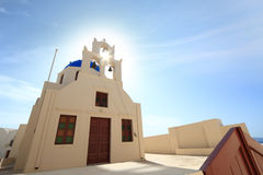 Classical church of Santorini island Royalty Free Stock Image