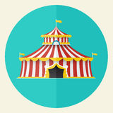 Classical Circus tent icon design, Vector illustration Stock Photos