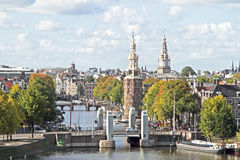 Classical city scenic from Amsterdam Netherlands Stock Photos