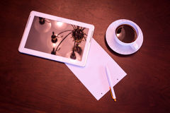 Classical Coffee and Tablet PC Royalty Free Stock Image