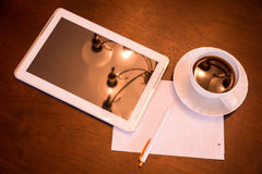 Classical Coffee and Tablet PC Royalty Free Stock Images