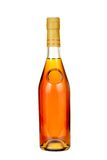 Classical cognac  bottle. Royalty Free Stock Image